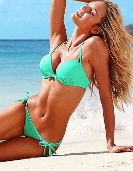 Costum de Baie Verde cu Push-up 0012265G1